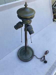 Unique Art Glass Lamp Base, Leaded,Slag Shade,Arts Crafts,Handel Lamp Era.