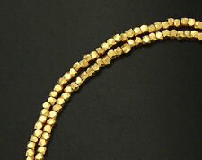 Karen hill tribe 24k Gold  Vermeil Style 120 Faceted Beads 1.5 mm.