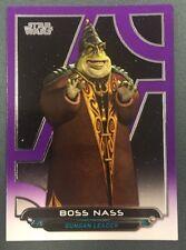 STAR WARS GALACTIC FILES REBORN  BOSS NASS PURPLE PARALLEL CARD 70/99
