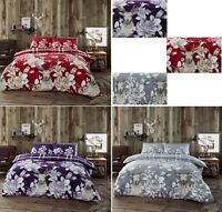 Luxuries 100% Brushed Cotton CHRISTMAS STAG Reversible Duvet Cover Bedding Set