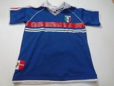 Youth Italy #4 L (14/16) Soccer Futbol Jersey (Royal Blue) Collared Italia Jerse