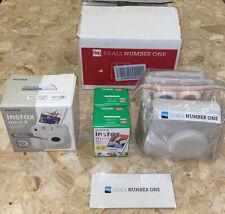 Fujifilm White Instax Mini 9 Camera Fuji Instant Film (40 Sheets) Accessories