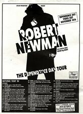 """NEWSPAPER CLIPPING/ADVERT 1/10/94PGN56 7X5"""" ROB NEWMAN : THE DEPENDANCE DAY TOUR"""