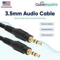 """3.5mm AUX Cable Audio Headphone Male to Male 1/8"""" Stereo Cord Car iPhone Samsung"""