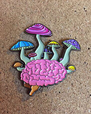 Psychedelic Fungus Brain Hat Pin