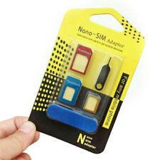 Nano SIM Card to MICRO Standard SIM Adapter converter SET For iPhone & Samsung D