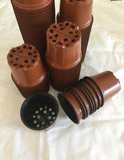 100 x Plastic Garden Nursery Pots Flowerpot Seedlings Planter Containers Set