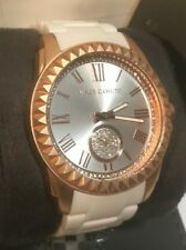 Vince Camuto Women's 43mm Rose Gold-Tone Matte White Ceramic Watch VC/5190RGWT