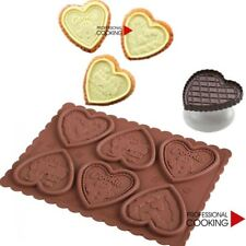 Silikomart Kit taglia biscotti con stampo silicone decorazioni Cuori