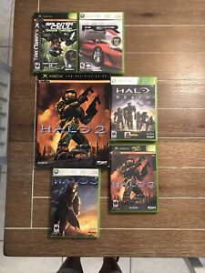 Lot Of X-Box 360 Games & Book Guide Halo 1-3, Splinter Cell, PGR.  EUC!