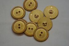 8pc 15mm Matt Gold Studded Edge Metal Blazer Cardigan Knitwear Button 3389