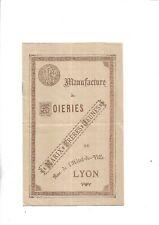 1897. Lyon. Catalogue. Soieries. Manufacture. Marix. Etoffes. Mode. Document++++