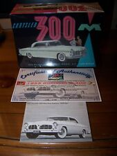 Moebius Models 1955 Chrysler 300 1/25 Scl 1/1st 300 produced COA signed by owner