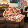 Comfort Food Creations Pizza Wrap Blanket Perfectly Round Hamburger Throw