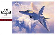 "Hasegawa 1/48 Plastic Kit Japan ""Raptor F-22"" PT45"