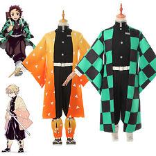 Demon Slayer Kamado Tanjirou Agatsuma Zenitsu Cosplay Uniform Kimono Costume