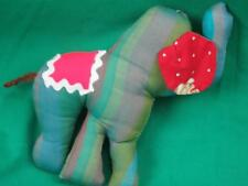 HANDMADE SEWN GREEN GOOD LUCK CHRISTMAS ELEPHANT FOLK ART PLUSH DECORATION