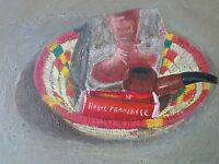 TABLEAU ANCIEN - huile/ HSP-Nature morte-Tobacco- Pipe-tabacs-oil