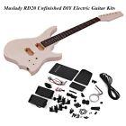 Unfinished DIY Electric Guitar Kit Maple Neck Rosewood Fingerboard f O3C4 for sale