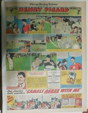 Camel Cigarette Ad: Henry Picard Golf Champion Full Page Size ! from 1938