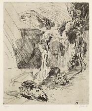 CHRISTINE PERTHEN - Hommage a Rembrandt - Radierung 1983