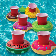 4pc Watermelon Inflatable Swimming Floating Pool Bath Beach Drink Can Cup Holder