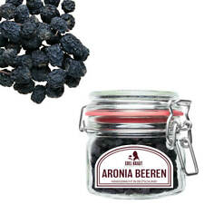 130g BIO Aronia Beeren (ganz) - Apfelbeere   EDEL KRAUT - Superfood im Glas