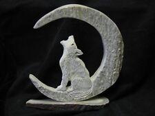Moose Antler Carving Wolf Moon