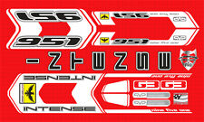 INTENSE 951 FRO CUSTOM MADE DECAL SET FOR RED FRAME