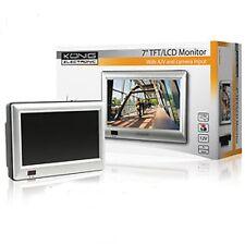 """MONITEUR ECRANT LCD 7"""" COULEUR 12V AV 2 ENTRES 1 SORTIE"""