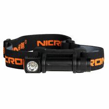 NICRON H10R CREE XP-E2 R3 130LM Dual-fuel Rechargeable Mini Aluminum Head Lamp A