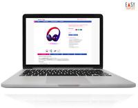 EBAYVORLAGE RESPONSIVE 2020 Auktion Vorlage mobile optimiert blau-pink+Editor