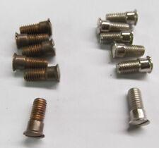 National Cash Register side panel shoulder screws -  set of 6-  bronze or nickle