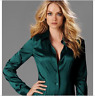 Womens Ladies Satin Silk Business Career Dress Formal Shirts Blouse Tops Zsell
