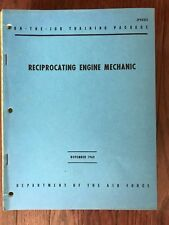 Department Of Air Force On-The-Job Training, JP43251, Recip Engine Mechanic 1962