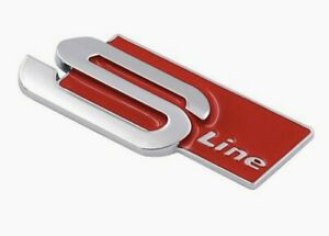 Audi 3D Metal S Line Car Side Fender Rear Trunk Emblem Badge for ALL Models