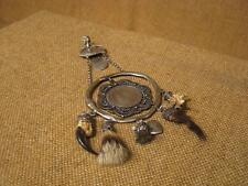 ▀█▀ ██ █▄ █▄ uralte Charivari / 800er Silber -- um 1920 --