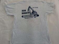 Ron Baratko Excavating Company T Shirt Mens Large White Short Sleeve Ohio