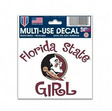 "FLORIDA STATE UNIVERSITY GIRL DECAL, 3"" x 4"", REMOVABLE REUSABLE"