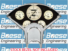 55-56 Chevy Anodized Aluminum Dash Panel w/ Auto Meter Antique Beige Gauges