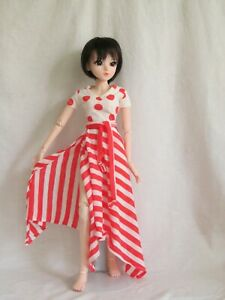 Pink and white T & skirt set for 60 cm 1/3 BJD Smart Doll handmade by JEC