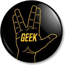 """Star Trek GEEK Vulcan Hand Salute 25mm 1"""" Pin Button Badge Sign Signal Spock Fun"""