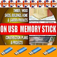 3000+ DIY WOOD PLANS PROJECTS SUMMERHOUSES SHEDS WOODEN HOMES BARNS USB DRIVE