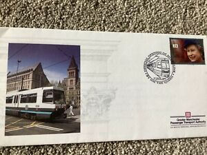 RAILWAY FIRST DAY COVER FDC TRAIN COVER SPECIAL RAILWAY MANCHESTER TRAM