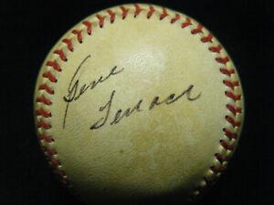Vintage Gene Tenace 4x WSC & 1972 WS MVP autographed NL Feeney baseball