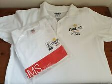 2 Mens T SHIRTs England Cricket Stowford Press Poms & White Carling Cider M & L