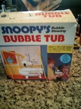 Vintage 1958 Peanuts Snoopy's Bubble Blowing Bubble Tub~Very Nice!