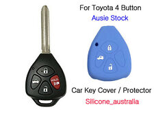 4 Button Blue Silicone Car Key Cover Protector Toyota Corolla Hilux Yaris Camry