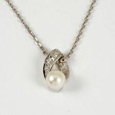 Anhänger aus Weißgold mit echten Zucht-Perlen