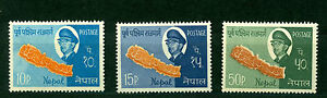 NEPAL 1964, East-West Highway of Nepal & King Mahendra, Sc# 170-172, MH/MLH